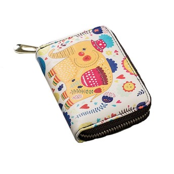 SweetHome名刺入れ小銭入れかわいい 細かいお金鞄カードケース じゃばら財布 紙幣、小銭、カード 主催者 バッグ (象)