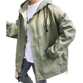 [美しいです] 春 秋 レディース コート 学生 ゆったり ファッション おしゃれ ジャケット 日系 ロングスリーブ 原宿風 ハーバーウィンド 花柄 プリント ファスナー 写真色BM