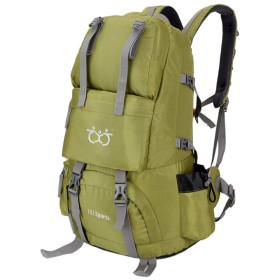 登山リュック 40L バックパック 大容量 リュックサック 防災 防水 旅行用アウトドアリュック 多機能 通気 独立靴用コンパート 防水 レインカバー付き 4色 (グリーン)