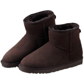 [モリケイ] ムートンブーツ シープスキン 男女兼用 雪用 スノーブーツ レディース メンズ 裏起毛 ファー ふわふわ ウィンターブーツ ハイカットミドル ショートブーツ 5つのタイプ 折り返し 紐 防水防寒 保温 防滑 暖かい 冬靴