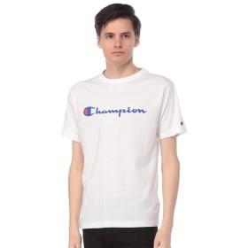(チャンピオン) Champion 綿100% ベーシック ロゴ クルーネック 半袖 Tシャツ [C3P302]ホワイト/L