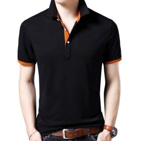 YOUTHUP ポロシャツ メンズ 半袖 tシャツ 大きいサイズあり M-3XL 無地 スリム 夏 薄手 通気性 ストレッチ カジュアル 全5色