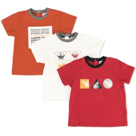 Emporio Armani Kids ロゴ Tシャツ - オレンジ