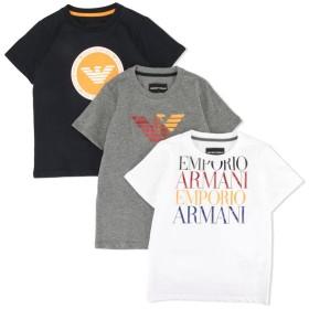 Emporio Armani Kids ロゴ Tシャツ セット - ホワイト
