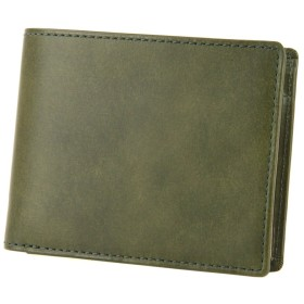 [エルゴポック] HERGOPOCH 06 ワキシングレザー 二つ折り財布 HG-06W-WTF-GR グリーン