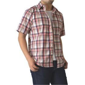 (リミテッドセレクト) LIMITED SELECT M1.5 ブロード 半袖 チェックシャツ メンズ チェック柄 シャツ R2K-0854 LL H ピンク系チェック 12