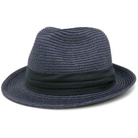 麦わら帽子 折りたたみ メンズ レディース MIXペーパー ポケッタブル ハット LL19.インクブラック
