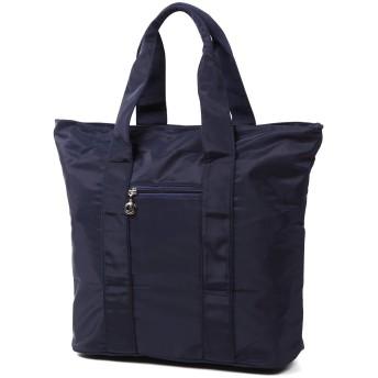 トートバッグ 大容量 軽量 メンズ レディース ファスナー開閉 大きめ A4 B4対応 3色 ビジネスバッグ 通勤 通学 (ブルー)
