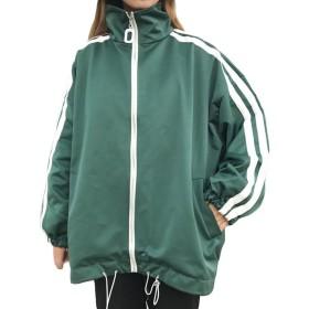 Gergeousレディース アウター 長袖 ジャケット ゆったり スタジャン ストリート 韓国ファッション ジャンパー 秋物(Gグリーン)