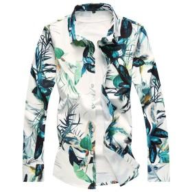 CEEN メンズ シャツ ネルシャツ 和柄 スリム アロハ 花柄 鮮やか カジュアル お兄系 おしゃれ 男性用 大きいサイズ 長袖