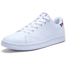 [XTEP] レディーススニーカー 白 通学靴 運動靴 革 22.5cm