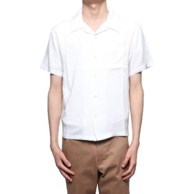 無地半袖オープンカラーシャツ M ホワイト