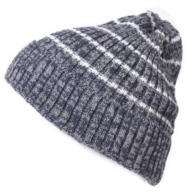 (カジュアルボックス)CasualBox BROSSボーダービーニーワッチ 6色 フリーサイズ ニット帽 帽子 サマーニット帽 ニットキャップ キャップ Chamr チャーム (mixネイビー)