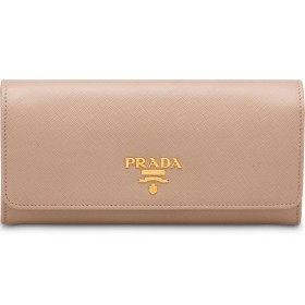 Prada フラップ 長財布 - ピンク