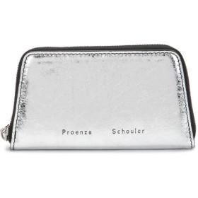 Proenza Schouler Trapeze Zip Compact Wallet - グレー