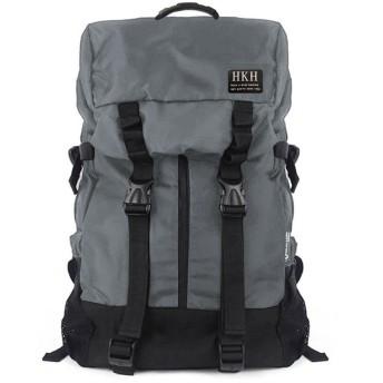 HKH リュック サック 大容量 A4サイズ ビジネス バッグ (グレー)