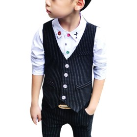 Zhhlinyuan 2 pieces Boys Suits for Weddings Kids Prom Suits Wedding Suits for Boys Children Clothing Set Boy Formal Costume 4118#