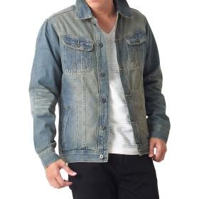 [エムシー] メンズ デニム ジャケット Gジャン 綿100% 3-インディゴ Lサイズ