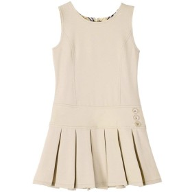 Bienzoe ガールズ 伸縮性のある裾 学校制服 ジャンパー 6(5-6歳) カーキ