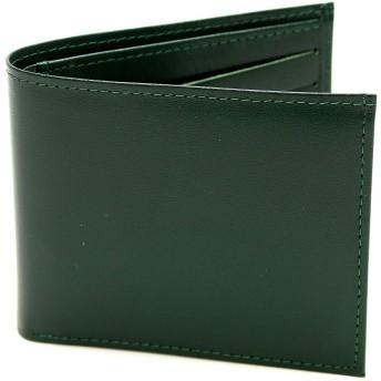 (メンズ カンパニー)Men's company 薄型 二つ折り財布 小銭入れなしタイプ (グリーン)