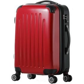 スーツケース/Wファスナー / 8輪キャスター / 拡張/TSAロック/ファスナー/ポリカーボネート / 03302-03402 (SM-03302, マゼンタ/combi)