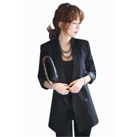 AIJUAN コート レディース スーツ ビジネス オフィス 通勤 フォーマル 披露宴 洋服アウター 制服 結婚式スーツ 大きいサイズブラック2XL