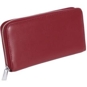 JOKnet スキミング防止 大容量 じゃばら カードケース メンズ レディース クレジットカード 財布 レザー 牛革 ワイン F