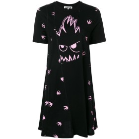 McQ Alexander McQueen Swallow Monster Tシャツドレス - ブラック