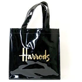 (ハロッズ) Harrods 正規品 PVC バック トートバック Harrods Signature Shopper Bag 黒 裏地付 1.Sサイズ