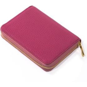 (コラーレ) corale 本革 コインケース 小銭入れ 小さい 財布 レディース ラウンドファスナー イタリアンレザー 選べる 18colors (フューシャピンク)