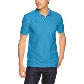 [プリントスター] 半袖 5.8オンス TC 鹿の子 ポロシャツ [ポケット付] 00100-VP メンズ ターコイズ L (日本サイズL相当)