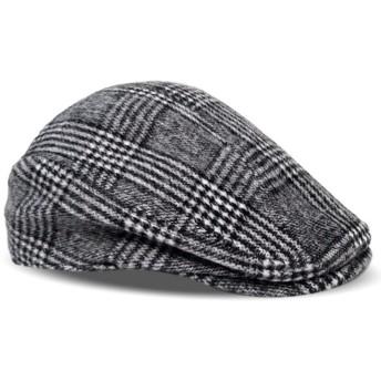 Eternal Leaf ハンチング帽子 ツイード ヘリンボーン ハンチング メンズ FT7006 (XL, チェック ブラック)