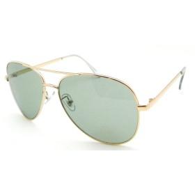 CYPHUS(サイファス) PP-3533 UVカット トレンド ファッション サングラス ライトカラー ティアドロップ (ゴールド/グリーン)