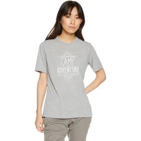 [ミズノ] アウトドアウェア ネオフィールプリントTシャツ 吸汗速乾 UVカット ドライ レディース A2MA8222 ベイパーシルバー S