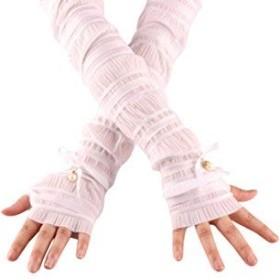 (ピーキー)Peigee紫外線をしっかりガード!!清涼 UVカット 日焼け止め手袋 UVカット 手袋 ロング グローブ 無地 リボン 薄手 清涼 滑止め付 女性 レディース