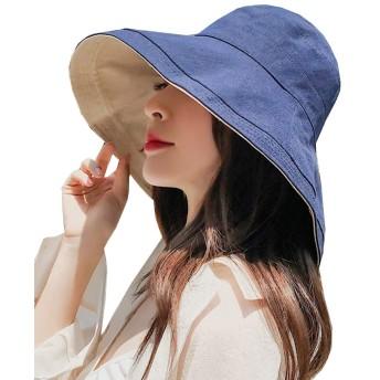 Heaven Days(ヘブンデイズ) 帽子 つば広 ハット 日除け UVカット 女優帽 シンプル リバーシブル レディース 1905N0078