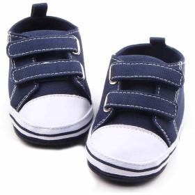 [ハニー ベービー] ベビーシューズ 歩行練習シューズ ファーストシューズ 歩行靴 スニーカー 赤ちゃん靴 女の子 男の子 キッズシューズ 赤ちゃんシューズ 出産お祝い 軽量 柔かい (14cm, ネイビー)