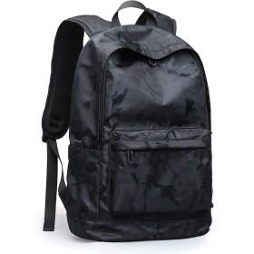 ZZINNA リュックサック メンズ リュック バックパック 大容量 おしゃれ 人気 高校生 通学 PCリュック バッグ a4 旅行 (迷彩ブラック)
