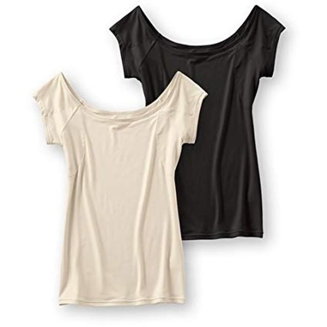汗取りパッド付 フレンチ袖インナーシャツ 2枚組 レディース