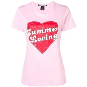 Pinko Mazurka プリント Tシャツ - ピンク