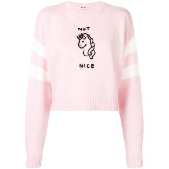 Miu Miu Not Nice セーター - ピンク