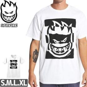 ホワイト/Sサイズ/スピットファイア SPITFIRE スケボー Tシャツ SHREDDED TEE NO187