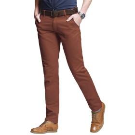 Matchstick(マッチスティック)チノパン ストレッチ スリム スキニー カラーパンツ 大きいサイズ ズボン メンズ (8060 レンガ赤, 3XL/38)