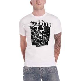 Sublime T Shirt ブラック Skull Band Logo 新しい 公式 メンズ Size XXL