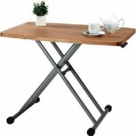 昇降式テーブル/リフティングテーブ 木製/金属・スチール MIP-36NA ナチュラル  送料無料