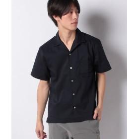 【32%OFF】 イッカ オープンカラーブロードシャツ メンズ ネイビー L 【ikka】 【セール開催中】