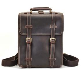 リュックサック 本革 メンズ 3Way レザー バックパック 手提げバッグ 学生鞄 ショルダーバッグ 3室 牛革 通学鞄 大容量 14インチPC 通学 通勤 旅行兼用