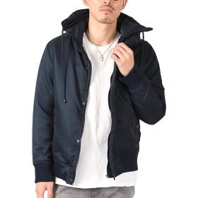 LUX STYLE(ラグスタイル) 中綿ジャケット メンズ ミリタリー ジャケット ブルゾン 冬 ネイビーM