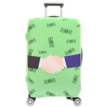 Suitcase Cover Thickest Elastic Luggage Cover Zipper Suit For Trunk Case Travel Suitcase Protective Covers Size L Style 16