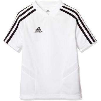 [アディダス] サッカーウェア TIRO19 トレーニングジャージー FJU34 [ジュニア] キッズ ホワイト/ブラック (DT5295) 日本 J140 (日本サイズ140 相当)